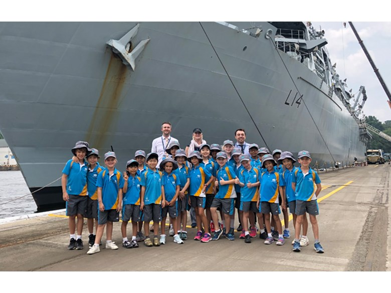 Year 4SO Visit HMS Albion