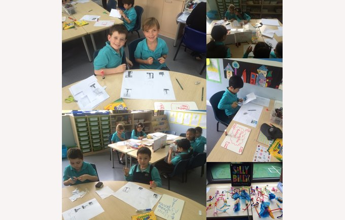 Year 2 create their own building designs