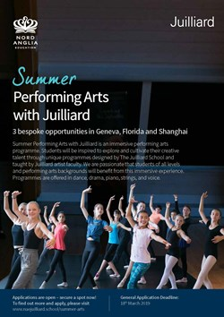 2019 Summer Performing Arts with Juilliard