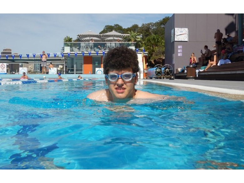 Carlos Swims 4 Autism