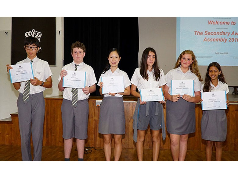 Secondary School Awards Assembly 2016