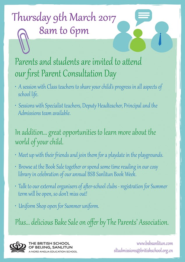 Parent Consultation Day 2017