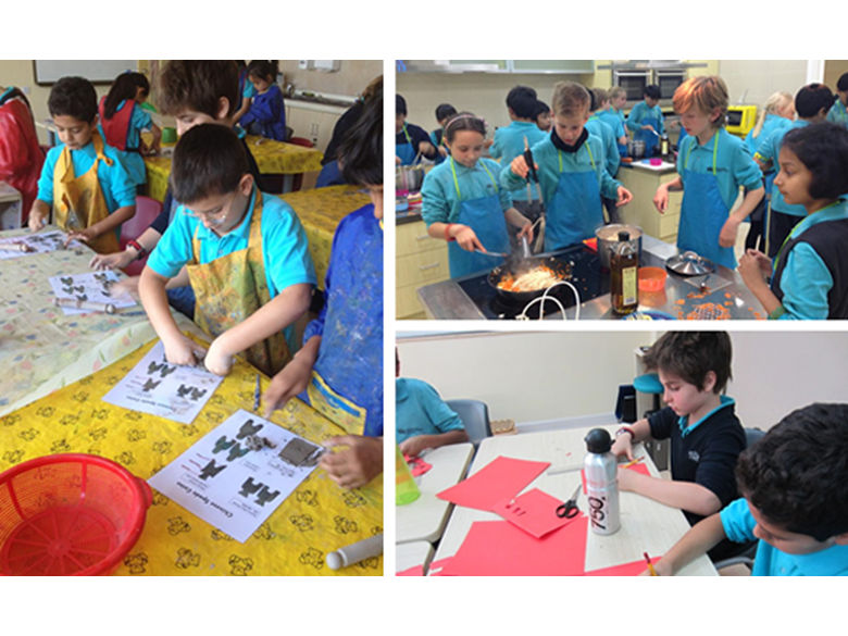 Year 5 students at BISS Puxi rounding off their learning on the Silk Road topic.