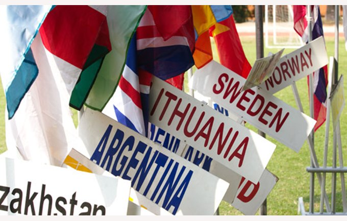 International flags, Regents international School Pattaya