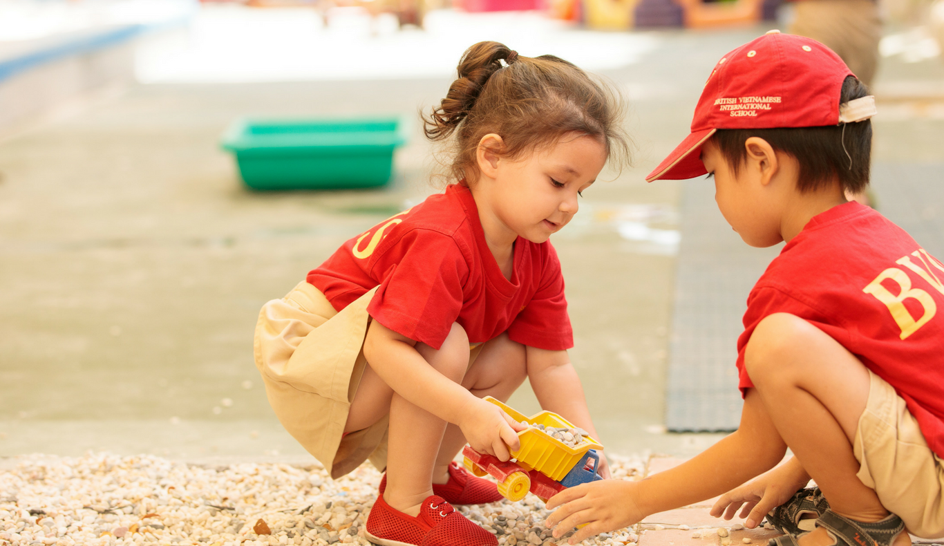 Two EYFS students play together at BVIS HCMC