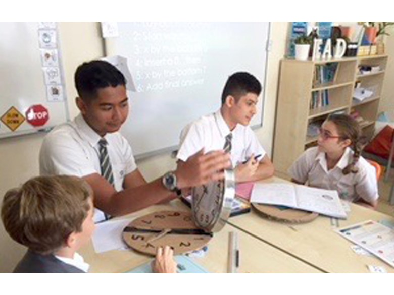 Year 10 Helps 6JF Class with Maths Lesson