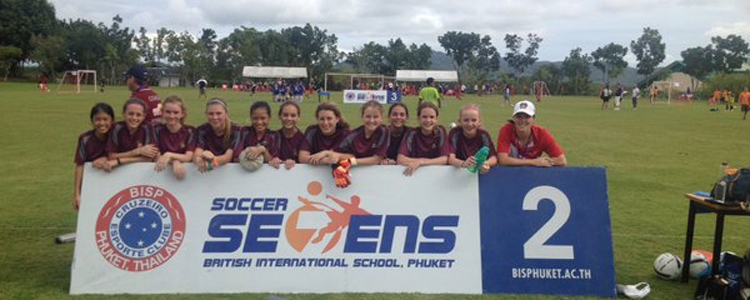 Girls Football Soccer Sevens Team