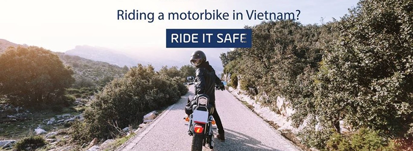 Launch event for motorbike safety in Vietnam at British International School, HCMC