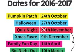 PA Event Dates for 2016-2017