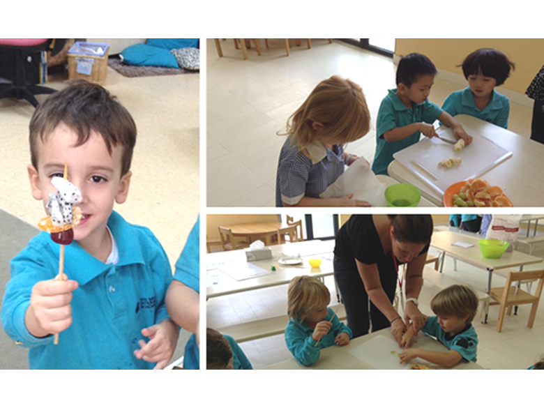 Early Years Cubs at the British International School Shanghai, Puxi learn about healthy eating