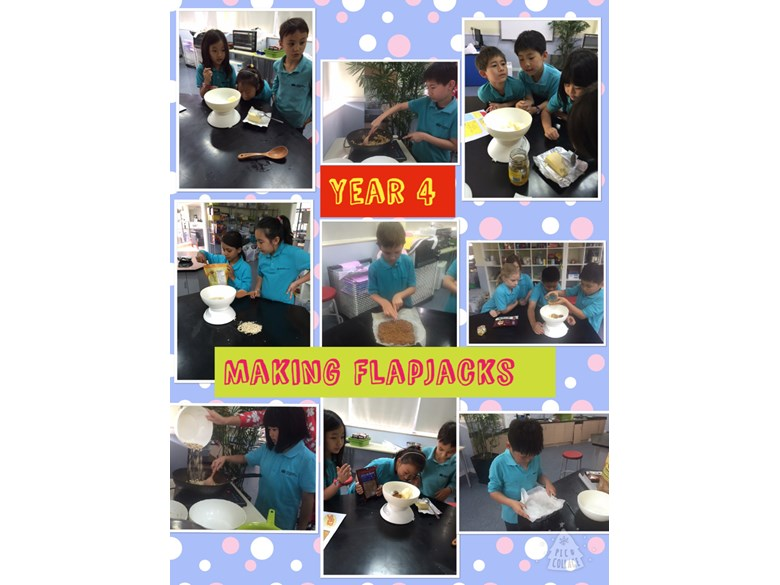 Year 4 making flapjacks