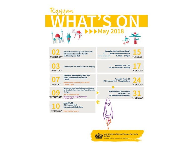 Rayyan What's on May 2018