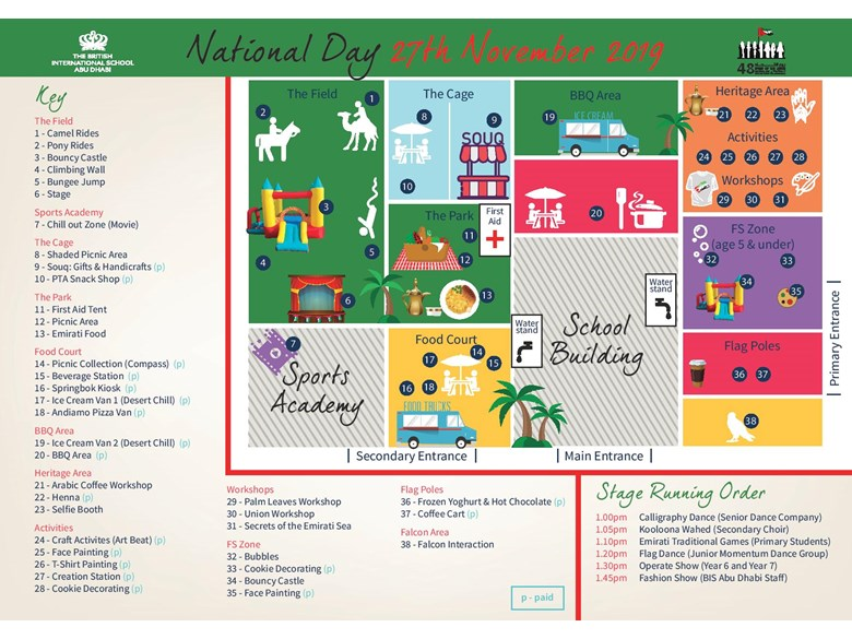 National Day Map 2019