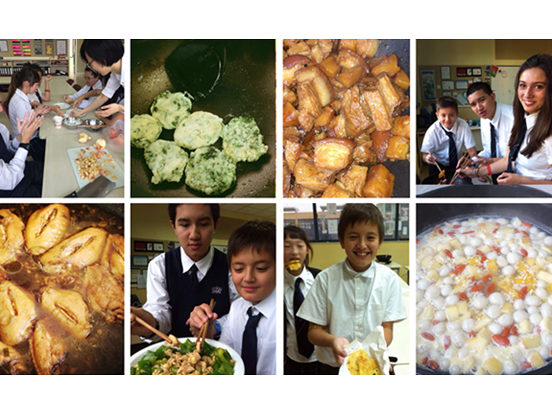 Our students enjoying learning all about Chinese cookery