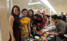 Parents at the British International School Shanghai, Puxi campus brought traditional Chinese food along for the performers and audience at the Chinese New Year Performance
