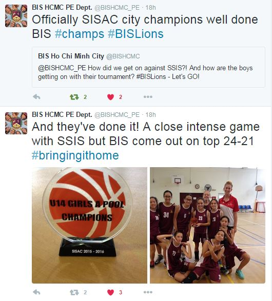 SISAC U14 Bball Champs Copy of Live Twitter Feed