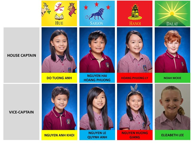 Primary House Captain - Vice Captain