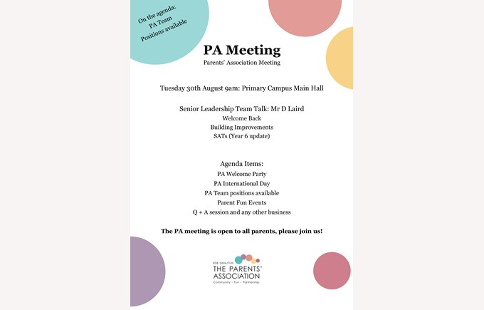 PA Meeting Poster_30th August 2016