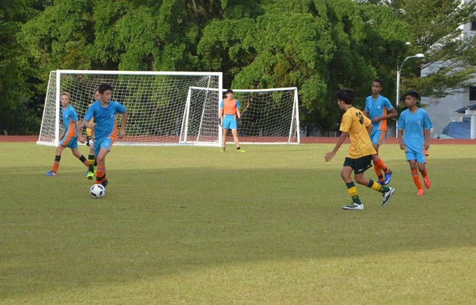 DCIS Under 16 Boys Football Action
