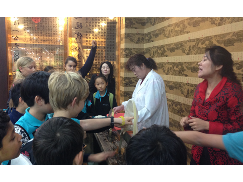 Year 5 students at the British International School Shanghai, Puxi visit the Shanghai Silk Museum
