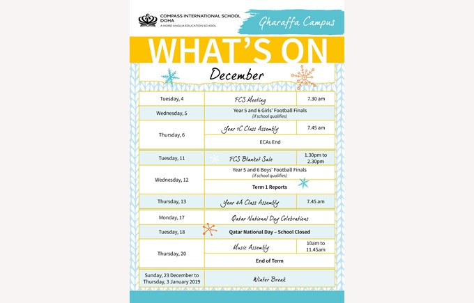 Gharaffa What's on in December