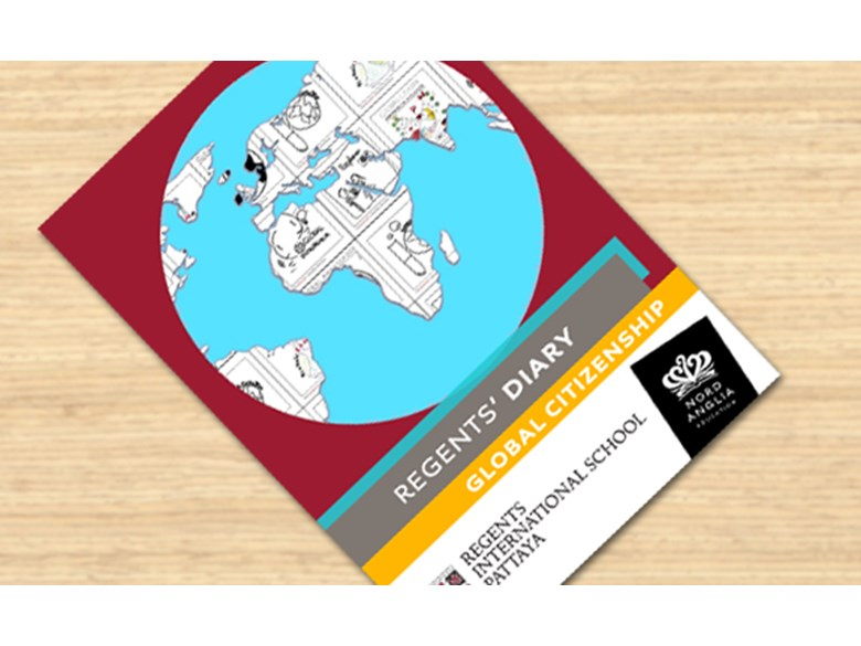 The cover of the Global Citizenship diary