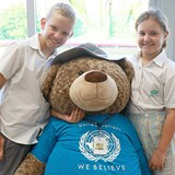 DC Bear and Our Students Prepare for UN Day 2018