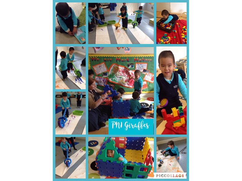 PN1 enjoy mark-making activities
