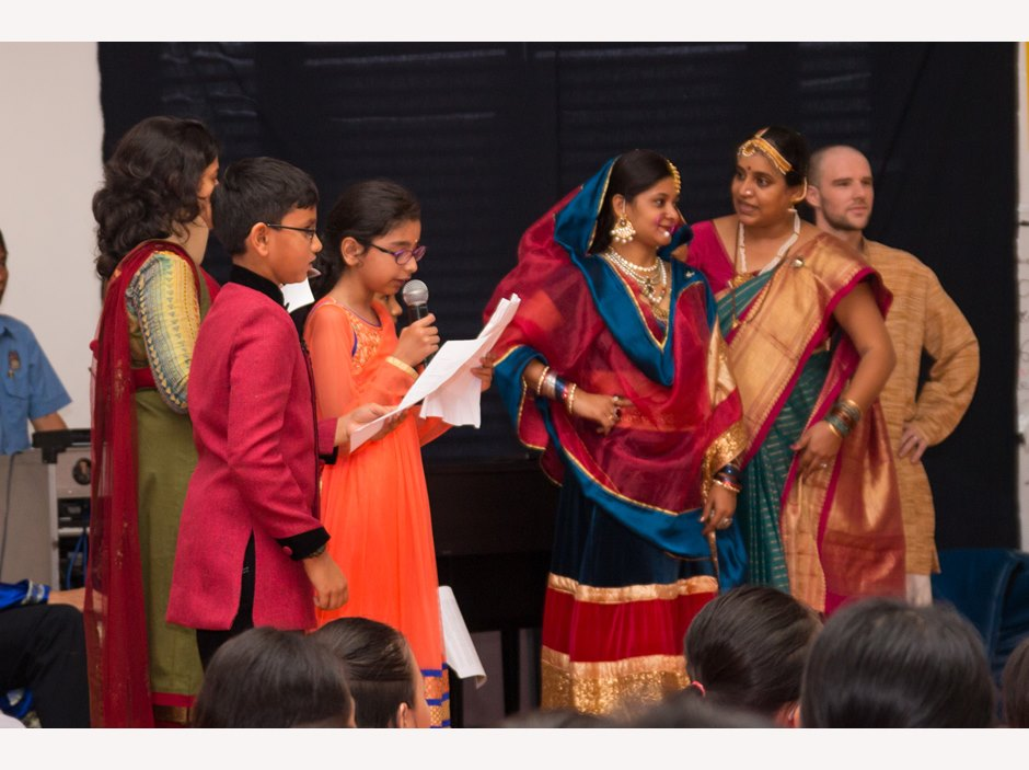 Indian students and parents in TX International Week