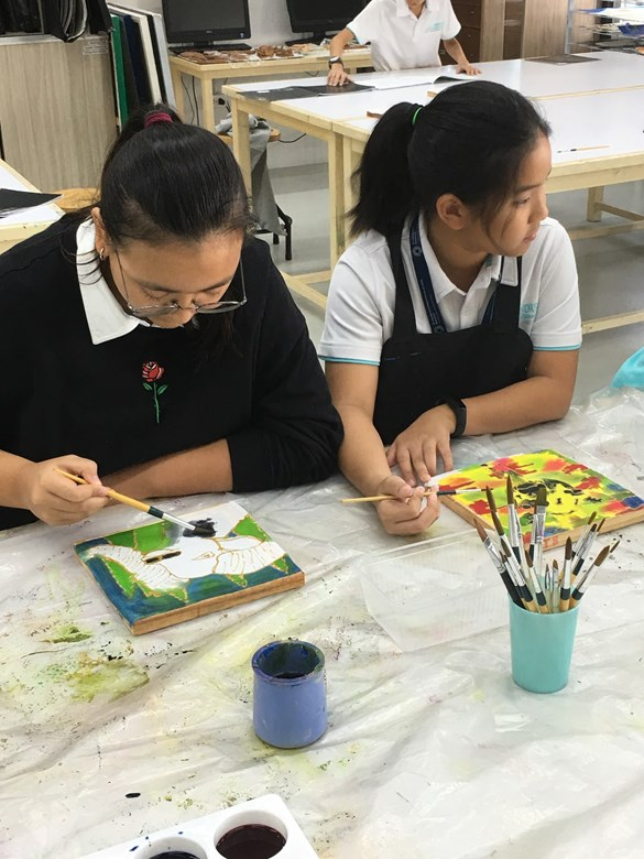 Year 7 artists have been creating batik designs