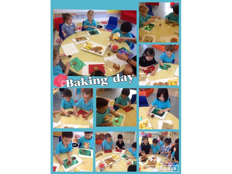 Pre-Nursery Monkeys enjoy baking