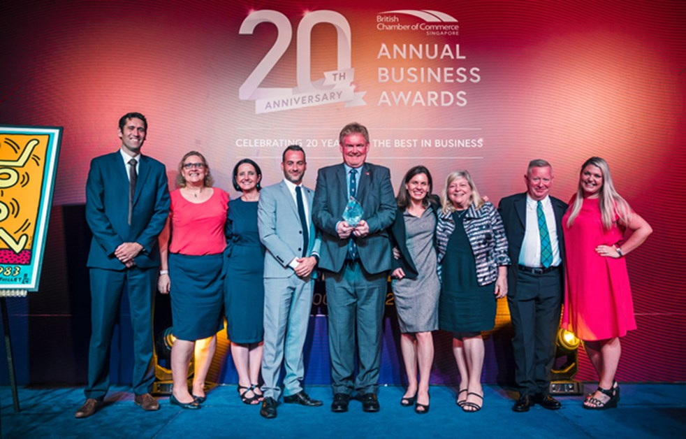 Brit Cham 20th Anniversary Annual Business Awards Winner
