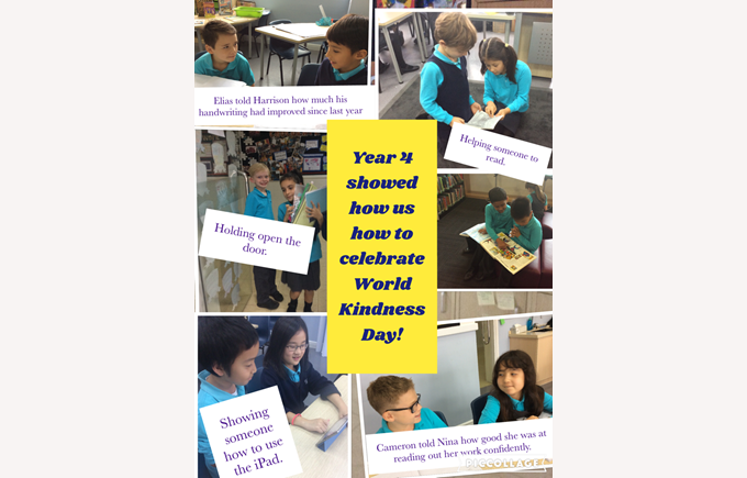 Showing kindness in Year 4