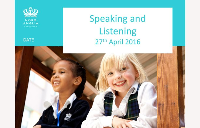 Primary Reading workshop -Speaking & Listening Apr 27, 2016