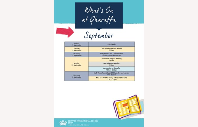 What's on Gharaffa September