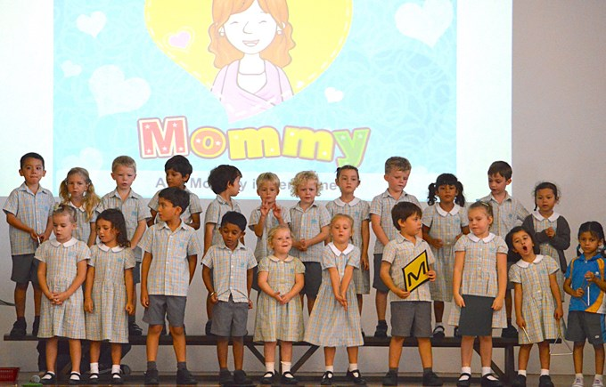 Celebrating Mother's Day at the Lower Primary Assembly