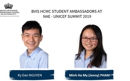 BVIS HCMC Student Ambassador at NAE-UNICEF Summit 2019