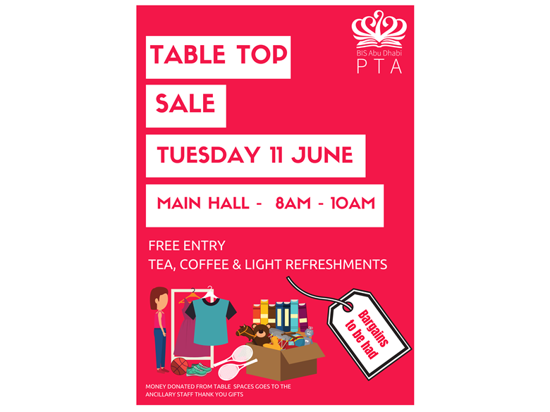 PTA table top poster