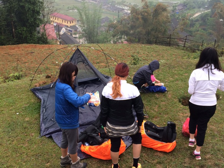 The first campsite for the Qualifying Expedition in Sapa