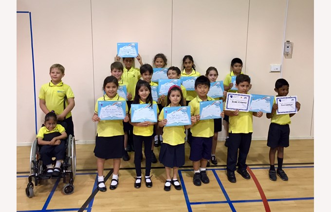 Madinat Khalifa Primary Newsletter Award winners