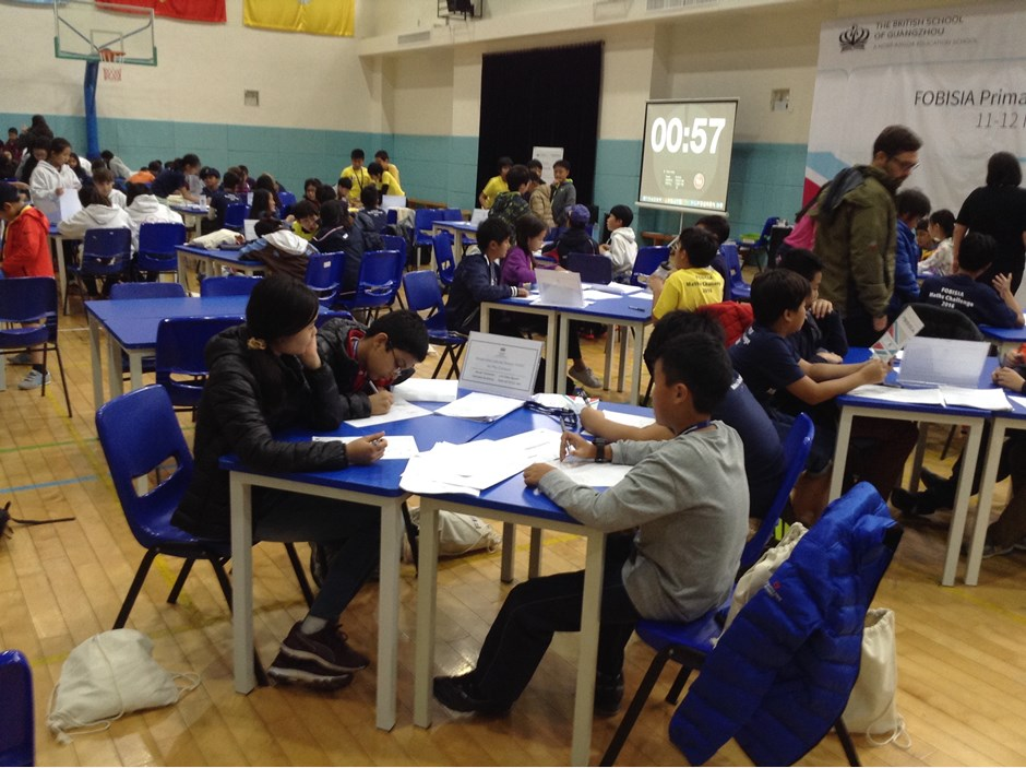 Students doing the test