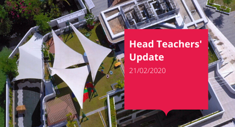 BIS HCMC Head Teachers' Update 21/02/20