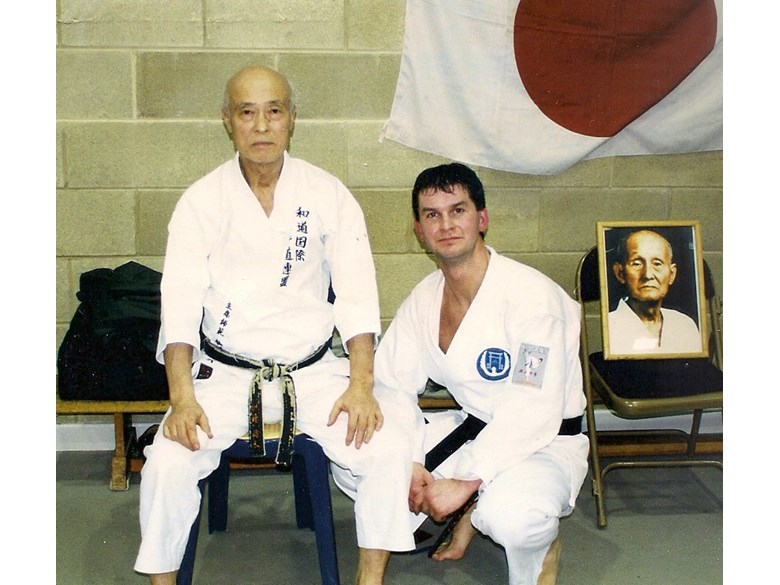 Mr Campbell and his teacher, Sensei Suzuki.