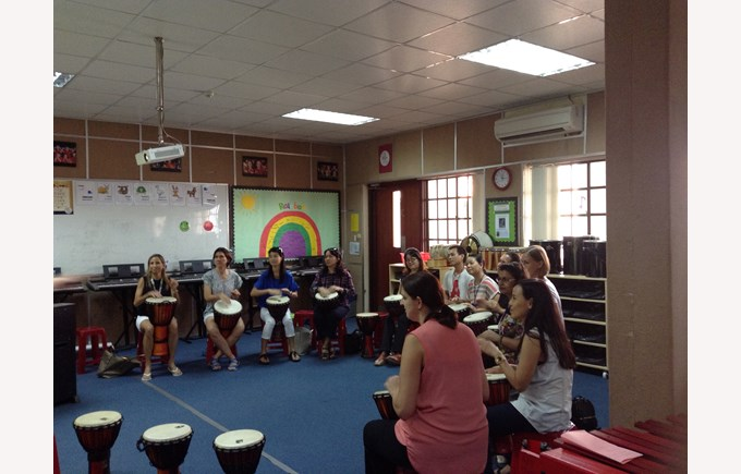 Drumming workshop with UK percussionist Andy Gleadhill 7