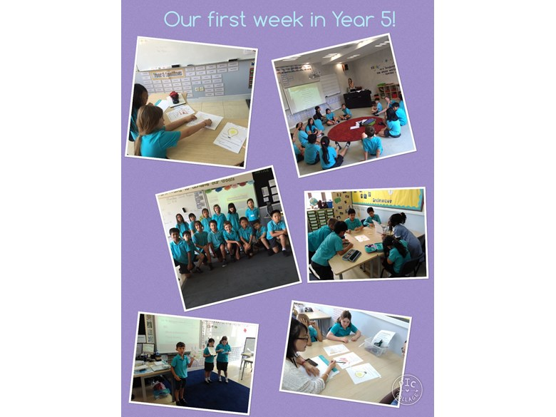 Our first week in Year 5