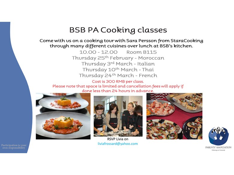PA Cooking class Feb Mar 2016