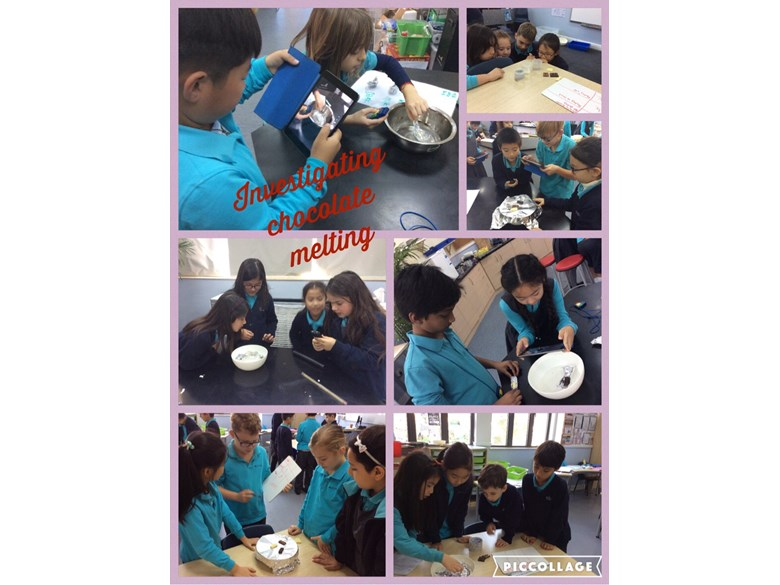 Year 4 investigate chocolate melting
