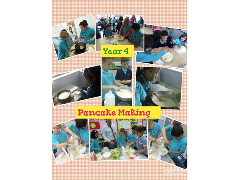 Pancake making in Year 4