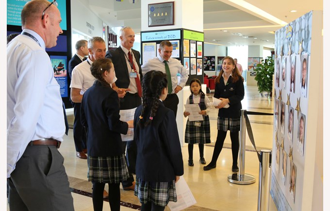 Primary Student Council School tour with FOBISIA Heads Mar 2017