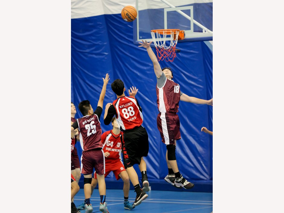 Boy Basketball Competition at FOBISIA U15 Games 2015